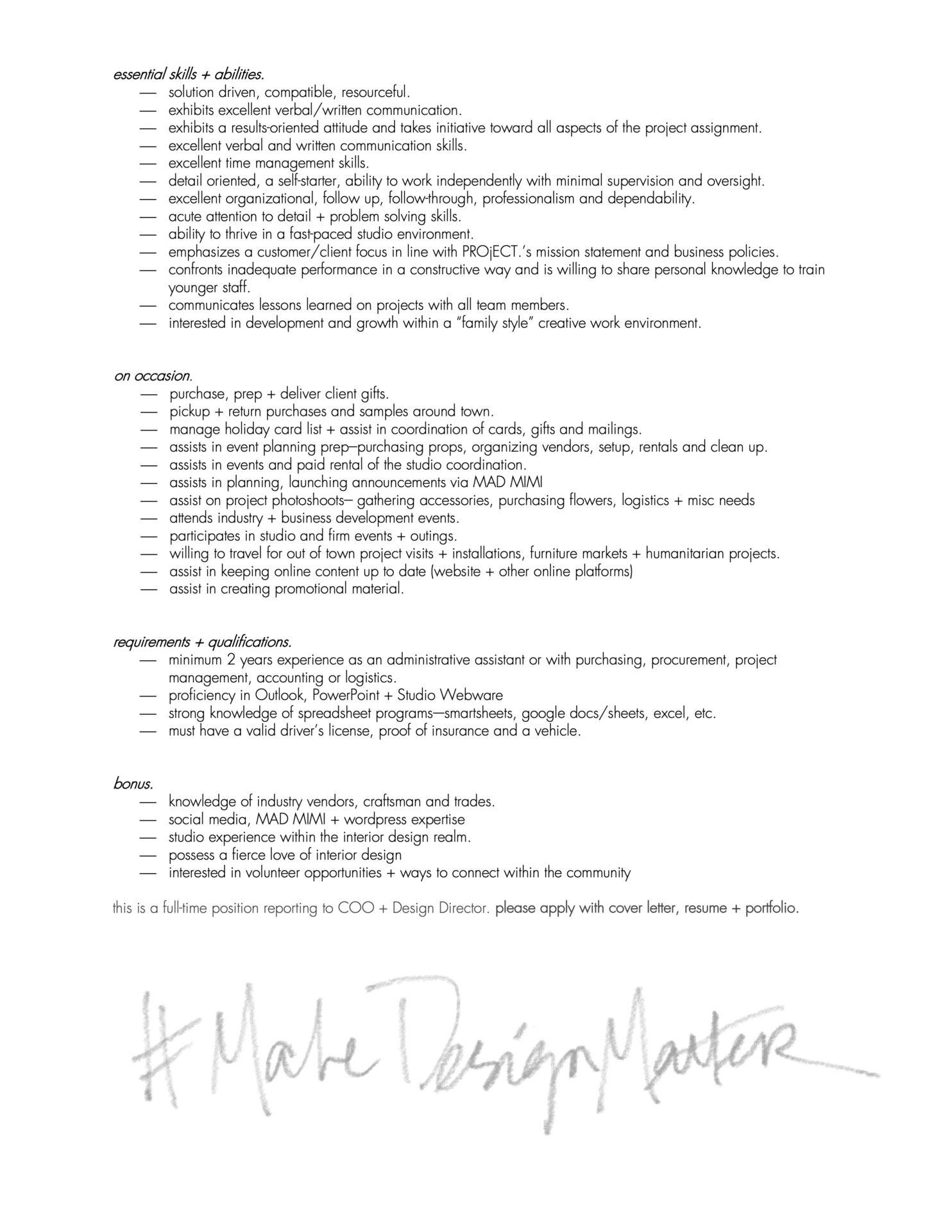 PROjECT Senior Designer Position - page 3